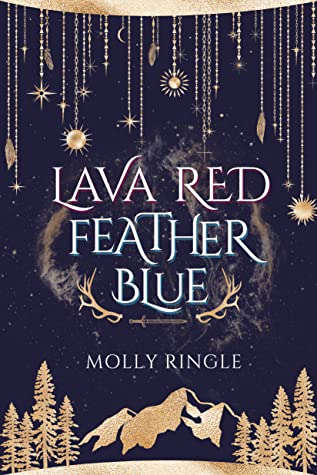 Lava Red Feather Blue by Molly Ringle