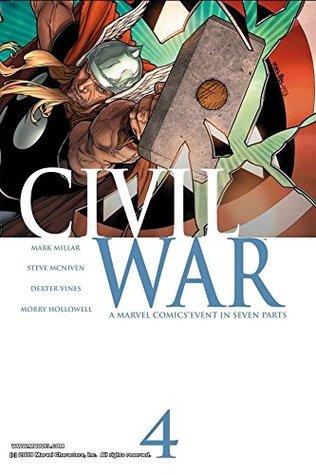 Civil War #4 by Steve McNiven, Mark Millar