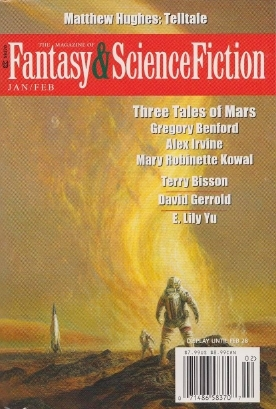 The Magazine of Fantasy & Science Fiction, January/February 2016 (The Magazine of Fantasy & Science Fiction, #723) by Betsy James, Leo Vladimirsky, E. Lily Yu, Mary Robinette Kowal, David Gerrold, Alexander C. Irvine, Albert E. Cowdrey, Terry Bisson, C.C. Finlay, Nick Wolven, Matthew Hughes