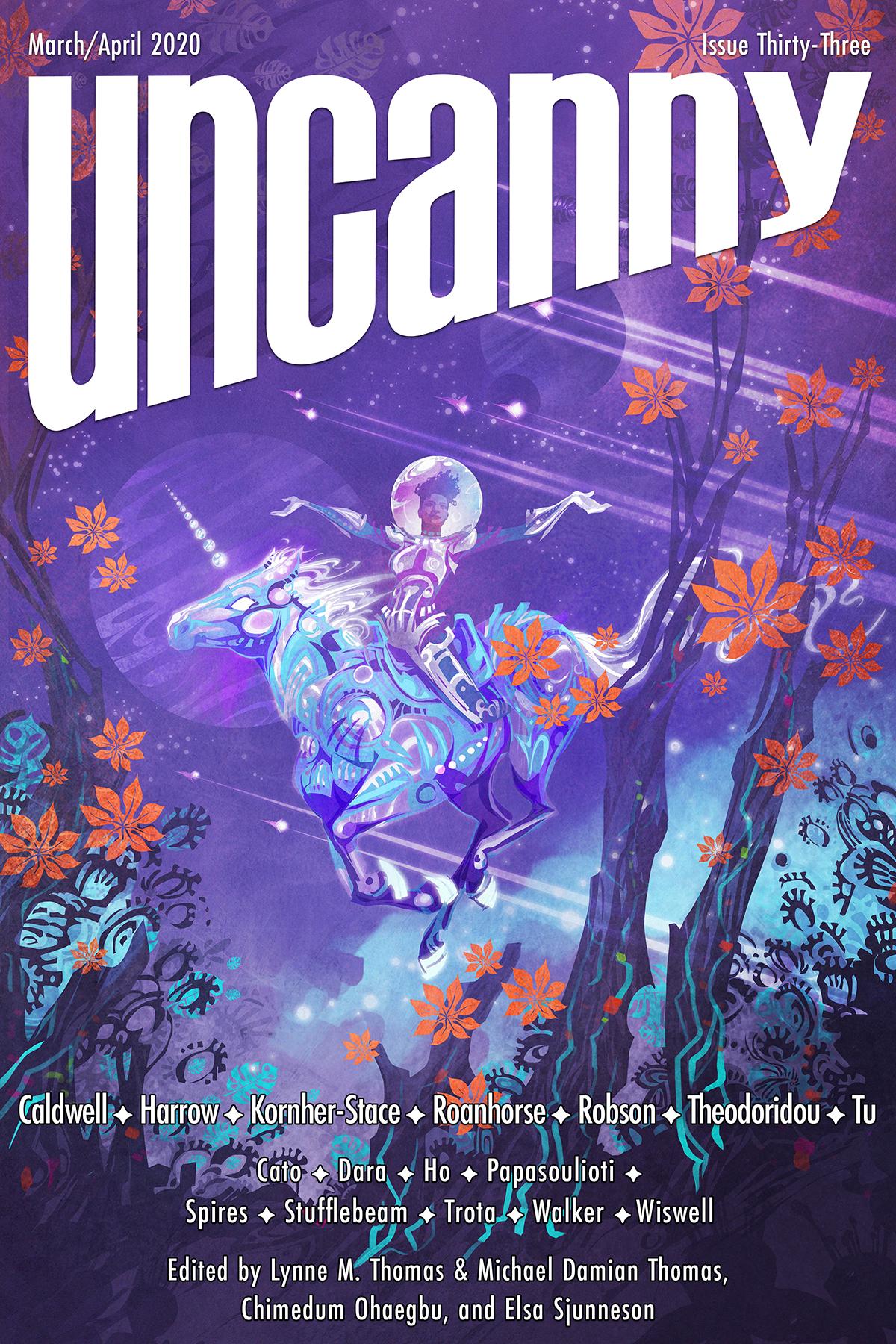 Uncanny Magazine Issue 33: March/April 2020 by Chimedum Ohaegbu, Elsa Sjunneson, Michael Damian Thomas, Lynne M. Thomas