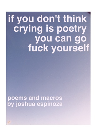 If You Dont Think Crying Is Poetry You Can Go Fuck Yourself by Joshua Jennifer Espinoza