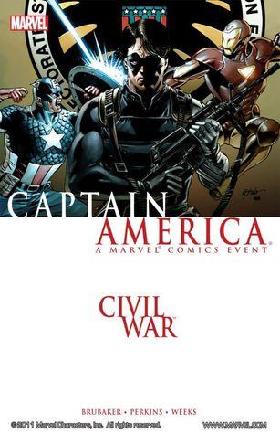 Civil War: Captain America by Mike Perkins, Ed Brubaker, Matt Milla, Lee Weeks, Stefano Gaudiano, Rick Hoberg, Joe Caramagna, Frank D'Armata