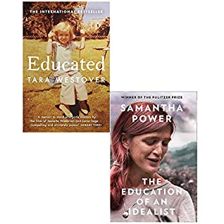Educated Tara Westover and Education of an Idealist Hardcover 2 Books Collection Set by Samantha Power, Tara Westover