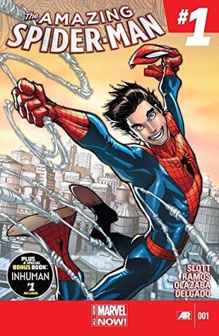 Amazing Spider-Man (2014-2015) #1 by Dan Slott, Ramón Pérez, Edgar Delgado, Alex Ross, Mircea Pricăjan, Humberto Ramos, Victor Olazaba