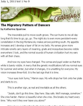 The Migratory Pattern of Dancers by Katherine Sparrow