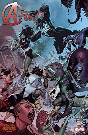 A-Force (2015) #5 by Marguerite Bennett, Jorge Molina, G. Willow Wilson