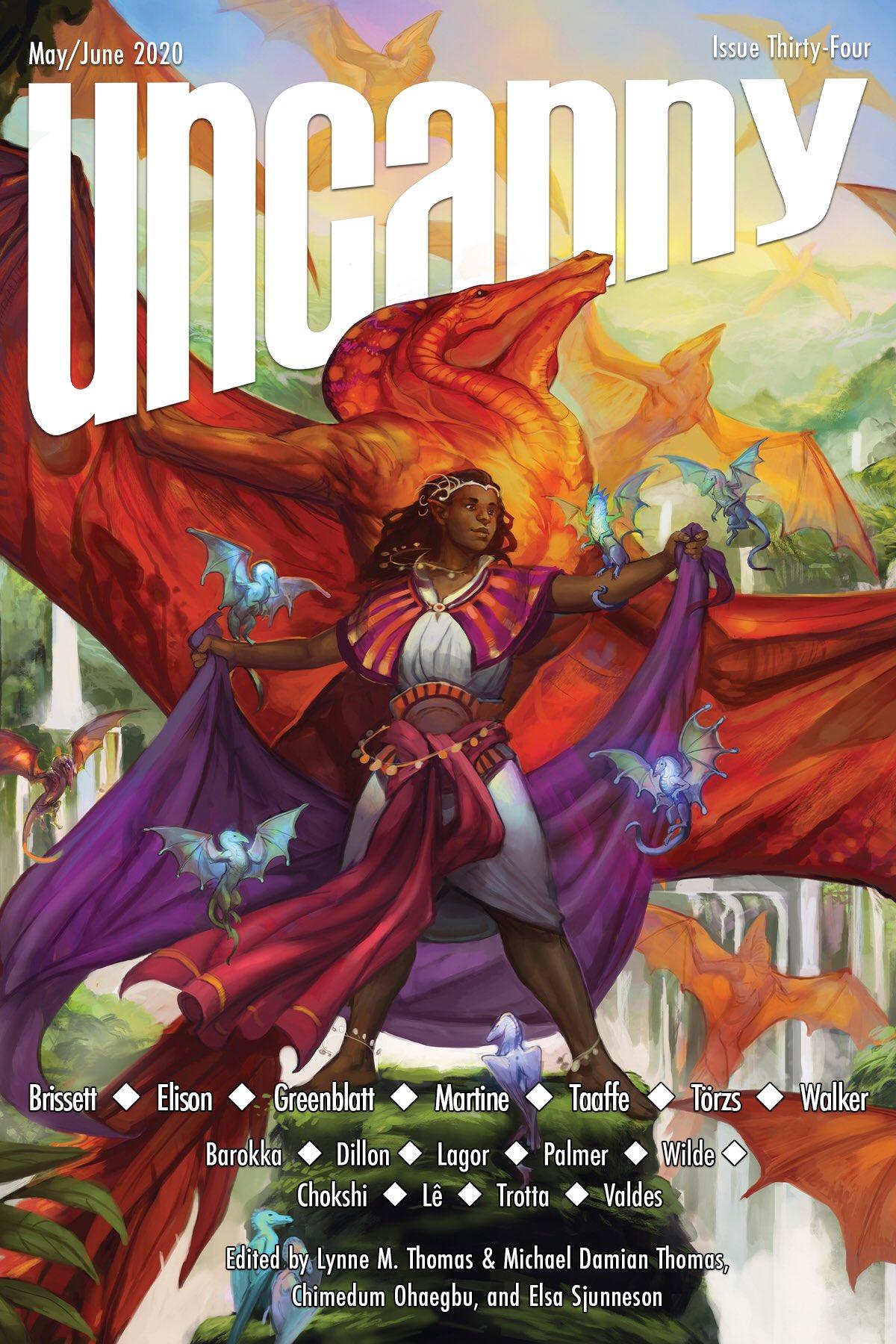 Uncanny Magazine Issue 34: May/June 2020 by Chimedum Ohaegbu, Elsa Sjunneson, Michael Damian Thomas, Lynne M. Thomas