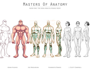 Masters of Anatomy (Masters of Anatomy #1) by Adam Hughes, Joe Madureira, J. Scott Campbell, Humberto Ramos