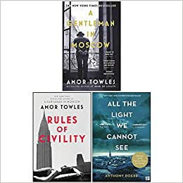 Anthony Doerr & Amor Towles Collection 3 Books Set by Anthony Doerr, Amor Towles