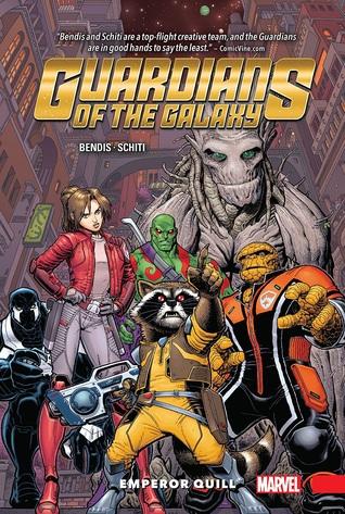 Guardians of the Galaxy: New Guard, Volume 1: Emperor Quill by Brian Michael Bendis, Cory Petit, Jason Keith, Valerio Schiti, Arthur Adams, Richard Isanove