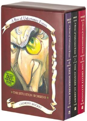 A Box of Unfortunate Events: The Situation Worsens (Books 4-6) by Lemony Snicket