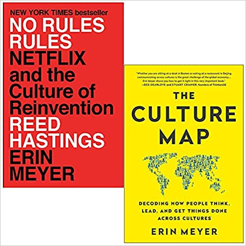 No Rules Rules Netflix and the Culture of Reinvention By Reed Hastings & Culture Map By Erin Meyer 2 Books Collection Set by Erin Meyer, Reed Hastings, No Rules Rules By No Rules Rules & Erin Meyer