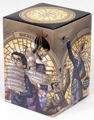 A Box of Unfortunate Events: The Loathsome Library (Books 1-6) by Lemony Snicket