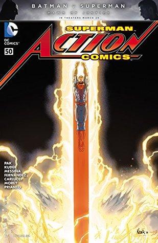 Action Comics #50 by Greg Pak, Vincente Cifuentes, David Messina, Bruno Redondo, Aaron Kuder, Javier Fernández