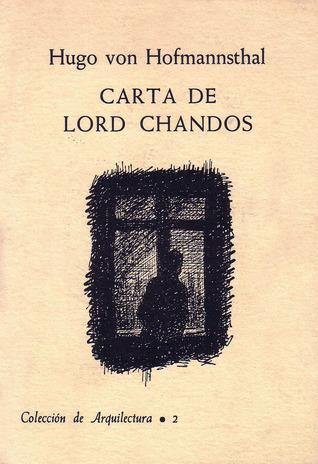 Carta de Lord Chandos by Hugo von Hofmannsthal