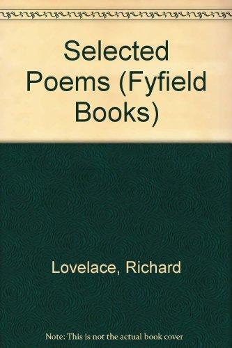 Richard Lovelace: Selected Poems by Gerald Hammond, Richard Lovelace