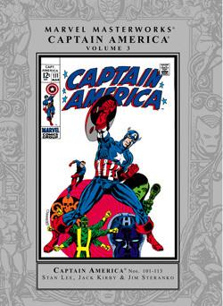 Marvel Masterworks: Captain America, Vol. 3 by Dan Adkins, Jim Steranko, Syd Shores, John Morrow, John Rhett Thomas, Joe Sinnott, Frank Giacoia, George Tuska, Stan Lee, Jack Kirby, Tom Palmer