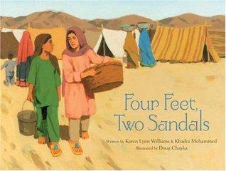 Four Feet, Two Sandals by Khadra Mohammed, Karen Lynn Williams, Doug Chayka
