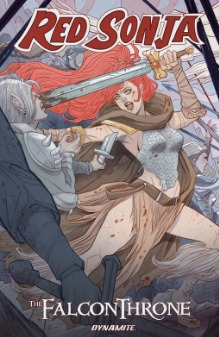 Red Sonja: The Falcon Throne by Marguerite Bennett, Marguerite Sauvage, Aneke