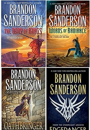 Stormlight Archive 4 Book Set: The Way of Kings, Words of Radiance, Edgedancer, Oathbringer by Brandon Sanderson