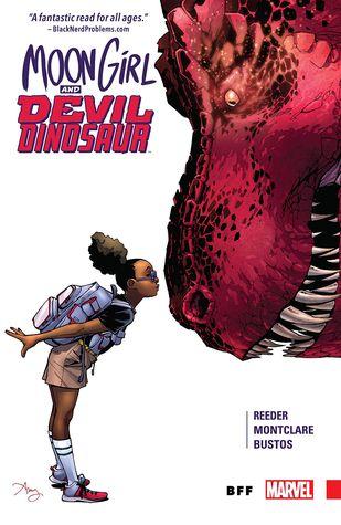 Moon Girl and Devil Dinosaur, Vol. 1: BFF by Mark Paniccia, Brandon Montclare, VC's Travis Lanham, Emily Shaw, Natacha Bustos, Tamra Bonvillain, Amy Reeder