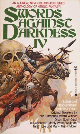 Swords Against Darkness IV by Ardath Mayhar, Poul Anderson, Gordon Linzner, Brian Lumley, Manly Wade Wellman, Jefferson P. Swycaffer, Andrw J. Offutt, Diana L. Paxson, Charles de Lint, Andrew J. Offutt, Tanith Lee, Charles R. Saunders, Orson Scott Card, Joey Froehlich