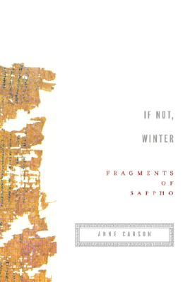 If Not, Winter: Fragments of Sappho by Sappho