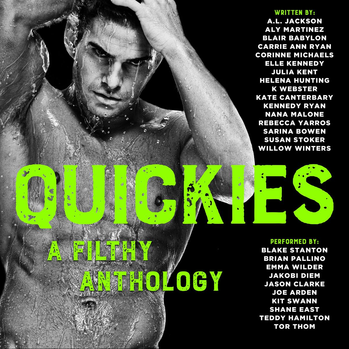 Quickies: A Filthy Anthology by Aly Martinez, Blair Babylon, Kate Canterbary, Corinne Michaels, Nana Malone, A.L. Jackson, Julia Kent, Susan Stoker, Willow Winters, Carrie Ann Ryan, Kennedy Ryan, K. Webster, Rebecca Yarros, Elle Kennedy, Sarina Bowen, Helena Hunting