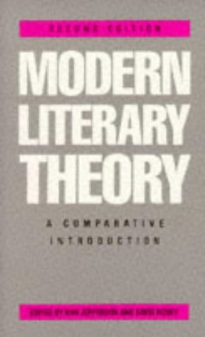 Modern Literary Theory: A Comparative Introduction by David Robey, Ann Jefferson