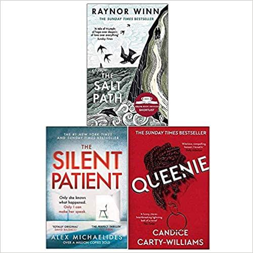 The Salt Path, The Silent Patient, Queenie 3 Books Collection Set by Raynor Winn, Alex Michaelides, Candice Carty-Williams