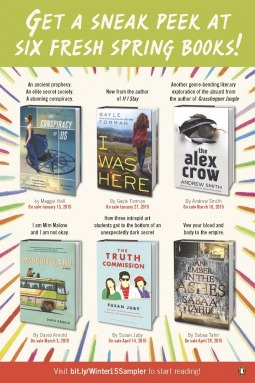 Penguin Teen Winter 2015 Preview by Maggie Hall, Gayle Forman, Susan Juby, Sabaa Tahir, Andrew Smith
