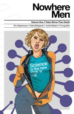 Nowhere Men Volume 1: Fates Worse Than Death (Teal Shirt) by Eric Stephenson