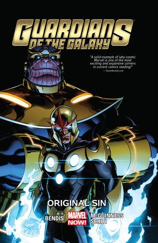 Guardians of the Galaxy, Volume 4: Original Sin by Nick Bradshaw, Brian Michael Bendis, Valerio Schiti, Justin Ponsor, Ed McGuinness, Frank Cho, Christian Ward