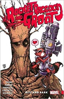 Rocket Raccoon & Groot, Vol. 0: Bite and Bark by Jeff Loveness, Skottie Young