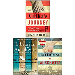 Cilka's Journey Hardcover, The Librarian of Auschwitz, The Tattooist of Auschwitz 3 Books Collection Set by Antonio Iturbe, Heather Morris
