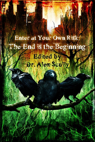 Enter at Your Own Risk: The End Is the Beginning by T. Fox Dunham, Michael Meeske, John Grover, M.R. James, Blaze McRob, Gary A. Braunbeck, Lawrence Santoro, Joshua Skye, Kevin Wetmore, H.F. Arnold, Rose Blackthorn, H.P. Lovecraft, Alex Scully, Kenneth W. Cain, Gregory L. Norris, Nathaniel Hawthorne, K. Trap Jones, Edgar Allan Poe, B.E. Scully, Gertrude Atherton, Norman Partridge, Mary Wollstonecraft Shelley, Gene O'Neill, Die Booth, Eric J. Guignard, Julianne Snow, Mark Patrick Lynch, Tais Teng, Sydney Leigh